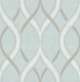 Frequency Turquoise Ogee  wallpaper