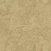 Conrad Beige Map Wallpaper