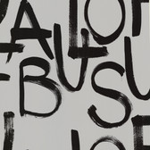 Fabulous Light Grey Brushstroke Text