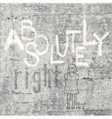 Absolutely Right Light Grey Graphic Wall Mural