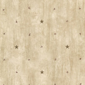 Bryndle Beige Barnstar & Sprigs Wallpaper