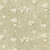 Dixie Green Floral Trail Wallpaper