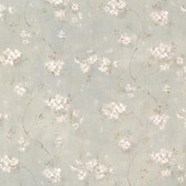 Dixie Aqua Floral Trail Wallpaper