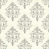 Arronsburg Ivory Damask Wallpaper