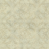 Christiana Wheat Damask Medallion Wallpaper