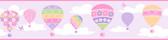 Balloons Lilac Border