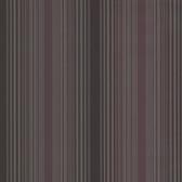 Casco Bay Plum Ombre Pinstripe Wallpaper