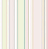 Cape Elizabeth Blush Lookout Stripe Wallpaper