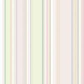 Cape Elizabeth Blush Lookout Stripe Wallpaper
