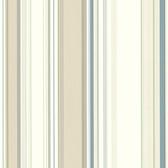 Cape Elizabeth Beige Lookout Stripe Wallpaper
