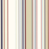 Cape Elizabeth Red Lookout Stripe Wallpaper