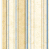 Cape Elizabeth Navy Lookout Stripe Wallpaper