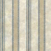 Castine Blue Tuscan Stripe Wallpaper