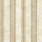 Castine Beige Tuscan Stripe Wallpaper