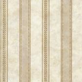Castine Beige Tuscan Stripe Wallpaper