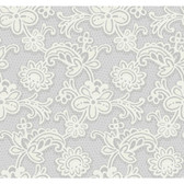 DE8809-Candice Olson Shimmering Details Modern Lace Lavender-White Wallpaper