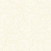 DE8810-Candice Olson Shimmering Details Modern Lace Cream-White Wallpaper