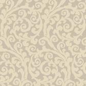 Opal Essence Raised Gt Scroll Wallpaper