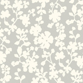DE8832-Candice Olson Shimmering Details Shadow Flowers White-Grey Wallpaper