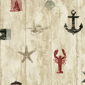 Nautical Living Weathered Seashore Wallpaper