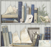 Nautical Living Coastal Library Wallpaper
