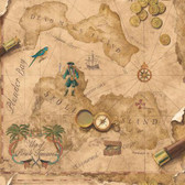 SB7791 - Brothers and Sisters V Pirates Map Wallpaper