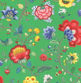 Epona Green Floral Fantasy Wallpaper