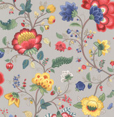 Epona Light Grey Floral Fantasy Wallpaper