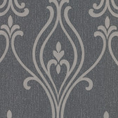 Luca Charcoal Damask Wallpaper