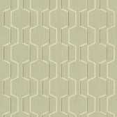 Harrison Celery Rectangular Geo Wallpaper