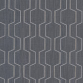 Harrison Charcoal Rectangular Geo Wallpaper