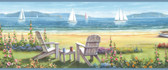 Barnstable Blue Seaside Cottage Border