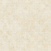 Shell Bay Beige Scallop Damask Wallpaper