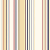 Lookout Navy Stripe Wallpaper