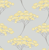 Banyan Grey Tree Wallpaper