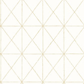 Intersection Gold Geometric Wallpaper