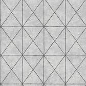 Intersection Silver Geometric Wallpaper