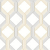 Linkage Gold Trellis Wallpaper
