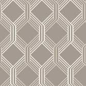 Linkage Brown Trellis Wallpaper
