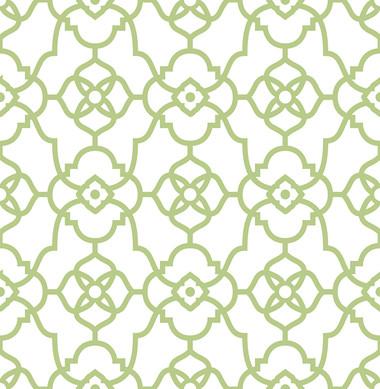 Atrium Green Trellis Wallpaper