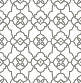 Atrium Grey Trellis Wallpaper