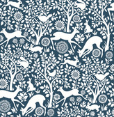 Meadow Navy Animals Wallpaper
