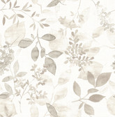 Gossamer Taupe Botanical Wallpaper