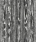 Illusion Black Wood Wallpaper