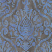 ARGOS BLUE DAMASK 353056 WALLPAPER