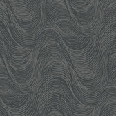SD3705 Ronald Redding Designs Masterworks Great Wave Wallpaper - Silver/Black