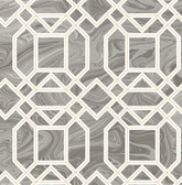 2763-24245 Daphne Grey Trellis Wallpaper