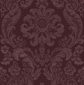 2763-87315 Shadow Merlot Damask Wallpaper