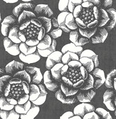 2763-24206 Fanciful Black Floral Wallpaper