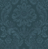 2763-87310 Shadow Blue Damask Wallpaper